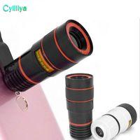 8x zoom telefone óptico telescópio telefone celular portátil lente da câmera telefoto e clip para iphone telefone inteligente