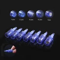 Cartucho de agulhas para 9/12/36/42 / Nano pinos dicas caneta derma Recarregável sem fio Derma Dr. Pen ULTIMA A6 cartuchos de agulha