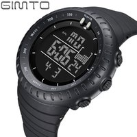 2017 Fashion Sport Shock Watches GIMTO Led Digital Watch Men Waterproof Silicone Military Outdoor Sports Male Clock relogio Y1892507
