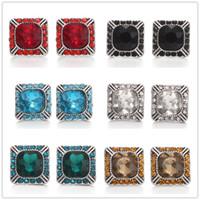 Noosa Chunks Square Rhinestone 12mm Snap-knoppen voor Snap-knop Ketting Oorbellen Ring Sieraden Accessoires
