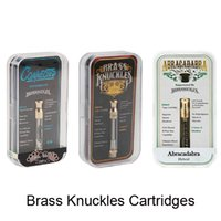 Brass Knuckles Abracadabra Connected Gold Cartridges 0.5ml 1.0ml Bobina De Cerámica Dual Cotton Coil 510 Vape Tank Gift Box Con Flavor Stickers