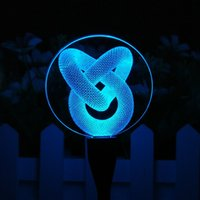 Love Knot 3D Illusion USB Colorful Lamp 7 RGB Colorful Light...