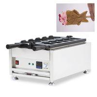 Tayvan Dijital Dondurma Taiyaki Makinesi Balık Gözleme Makinesi Ticari Elektrikli Açık Ağız Balık Waffle Makinesi 5 adet Snack Ekipmanları NP-722