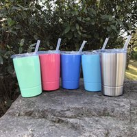 12oz Kids Cup with Lid Straw Wine Bottle Large Capacity Doub...