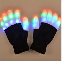 New LED Rave Luvas Mitts piscando dedo Lighting Luva LED magia luvas festival de luz acima das luvas de Brilho LED coloridos