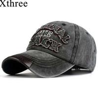 Xthree chaud rétro casquette de baseball équipée casquette snapback chapeau pour hommes femmes gorras casual casquette lettre broderie bouchon noir