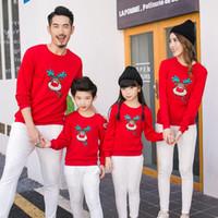 Семейная одежда 2018 Рождество олень Детские рубашки мама и я одежда мать дочь отец ребенок комбинезон семья соответствующие наряды