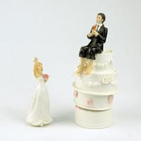 Décoration de mariage gâteau Toppers Démission Figurine Le Groom nuptiale de pêche Démission Artisanat Souvenir Nouveau mariage Favors Vente chaude cadeau de mariage