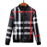 Stilvolle Marke Frühling Bomberjacke Männer 2018 New Fashion black check Jacken Männer Slim Fit Langarm Casual Herren Mäntel Windjacke M-3XL