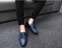 2019 نمط الساخنة أحذية رجالية جلد طبيعي عارضة القيادة أوكسفورد الشقق أحذية الرجال متعطل الأخفاف الرجال الأحذية الإيطالية N80