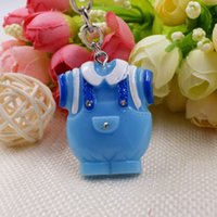 FREE SHIPPING(100pcs lot)+ Cute- As- Can- Be Blue Clothes Design...