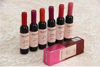 جديد وصول أحمر زجاجة النبيذ ماتي الشفاه تينت الشفاه ملمع شفاه تينت مستحضرات التجميل السائل طويل الأمد lipgloss 6 ألوان