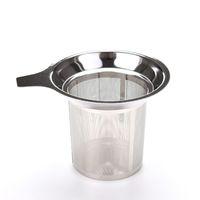 Taza de malla de acero inoxidable colador reutilizable a base de hierbas Filtro de infusión de té Infuser Spice Mesh Balls 7.5x8.8cm Herramientas de cocina