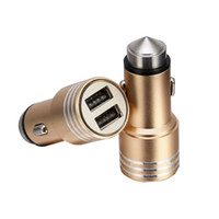 금속 듀얼 소켓 2 USB 포트 5V / 2A 자동차 차량용 담배 라이터 어댑터 전원 소켓 충전기 휴대 전화에 대 한