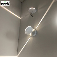 outdoor Waterproof 8w led wall lamp, surface mounted led wall sconce liner light Aisle Bedroom Decorative Lighting 85-265V