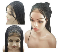 Z&F Synthetic Braiding Hair Braided Lace Wigs Braided Lace F...