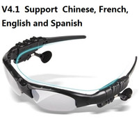 V4.1 اللاسلكية بلوتوث في الهواء الطلق نظارات الشمس نظارات ستيريو يدوي سماعة سماعات أذن للهواتف الذكية في التجزئة HBS-368 20 قطع