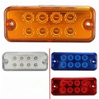 Nuevo 12V 24V 8 LED Side Marker Light Lamp Camión Remolque Lorry Caravan Waterproof White Red Amber Blue