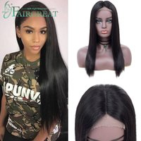 Peruvian Straight 4*4 Lace Front Human Hair Wigs Lace Front ...