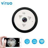 YITUO HD 960P 무선 와이파이 IP 카메라 1.44MM 렌즈 360도 파노라마 어안 1.3MP 보안 카메라 지원 전화 APP 제어