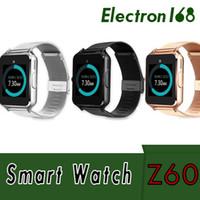 33224d4b849 Bluetooth Smart Watch Z60 Relógios inteligentes sem fio Aço inoxidável para  suporte Android IOS SIM TF