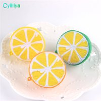 50pcs Lot Spicy Imitation Gift Squeeze Squishy Toys Buns Дети De-Stress Kawaii Lemon Slow Rising Phone Strap Freeshipping