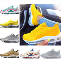 2018 Running shoes 97 Sneakers Undefeated Silver Bullet Max9...