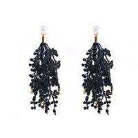 Mode Ohrring für Mädchen Spitze hängende Quaste Blume Fringe Dangle Erklärung Ohrringe Boho Hochzeit Anhänger Schmuck