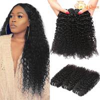 인도의 변태 곱슬 버진 인간의 머리카락 weaves 등급 8A 인도 곱슬 머리 묶음 자연 색 도매 인도 레미 헤어