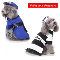 Cute Police and Prisoner Dress Up Funny Dog Clothes for Smal...