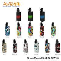 Rincoe Manto Kit Mini RDA 90W avec Metis RDA 24mm avec fonction anti-choc 100% d'origine