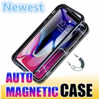 Ultra- Slim Magnetic Metal Alloy Bumper Phone Case with Clear...