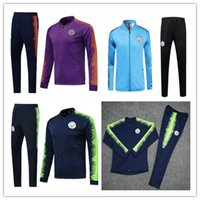 Manchester city tracksuit 2018 19 Kun Aguero jacket survetem...