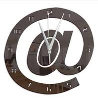 편지 모양 3D 디지털 벽 시계 큰 장식적인 현대 디자인 큰 자동 아크릴 부엌 시계 벽화 60057 홈 장식