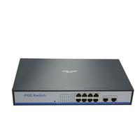 HYYY8 smart desktop wall mount management 8+2 gigabit ethernet switch 150w IEEE802. 3af / at poe for 960P / 1080P 2mp 3mp hd ip cameras