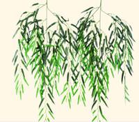 Simulación de hoja de sauce árbol de cifrado simulación en color de impresión de sauce árbol de simulación de planta de árbol de hoja de banano árbol falso L093