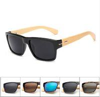 Occhiali da sole in legno di bambù fatti a mano nero retrò vintage uomini occhiali da sole quadrati per gli uomini uv400 occhiali da sole per occhiali da vista Oculo 5119