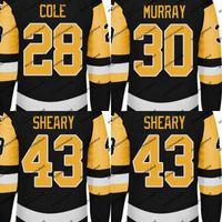 Mens 2017-18 temporada Jersey 28 Ian Cole 30 Matt Murray 43 Conor Sheary con 50 años 100 años 2017 Stanley Cup Final Champions Patch