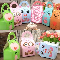 24pcs Baby Shower Favor Boxes and Bags Animals design Candy ...