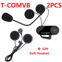 2PCS Freedconn T- COMVB 800M Wireless Bluetooth Interphone He...