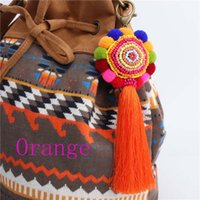 100pcs Colorful Flower Pom Pom Round Tassel Bag Accessories ...