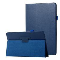 Litchi Book funda con tapa de cuero PU para Samsung Galaxy Tab A 10.5 SM-T590 / T595 T590 T595 2018 tableta + regalo gratis