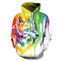 Mr.1991INC Neue Mode Wolf Hoodies Männer / frauen 3d Sweatshirts Druckfarbe Wolf Dünne Mit Kapuze Hoodies Hoody Pullover