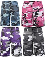 men Camouflage Cargo shorts Hip Hop Casual shorts Baggy Tact...