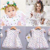 Wholesale- INS New Kids Baby Girls Dot Lovely Sleeveless Baby...