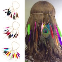 Feather Headdress Hippy Indian Feather Fascia Festival boho Hairband UK