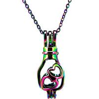 8 photos wholesale christmas light bulb necklace for sale c539 rainbow color mm heart light bulb beads