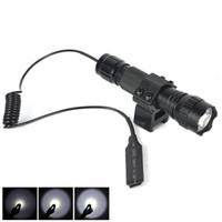 원격 스위치 샷 총 마운트와 501B XML T6 LED 전술 손전등 5 모드 휴대용 랜턴 캠핑 사냥 소총 토치 라이트