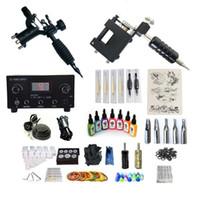 고품질 문신 키트 2 기계 듀얼 디지털 전원 공급 장치 7 잉크 25 바늘 2 그립 클래식 매일
