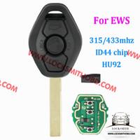 استبدال مفتاح الدخول بدون مفتاح مفتاح بعيد فوب 315/434 ميجا هرتز مع رقاقة ID44 ل E81 E46 E39 E63 E38 E83 E53 E36 E85 تقطيعه بليد HU92